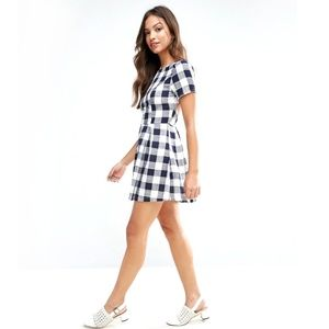 Asos Glamorous Gingham Skater Dress